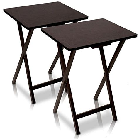 Folding Tv Tray Table Buy Furinno 12081ex Folding Tv Tray Table 2 Pc Set Espresso At Wildorchidquilts Net