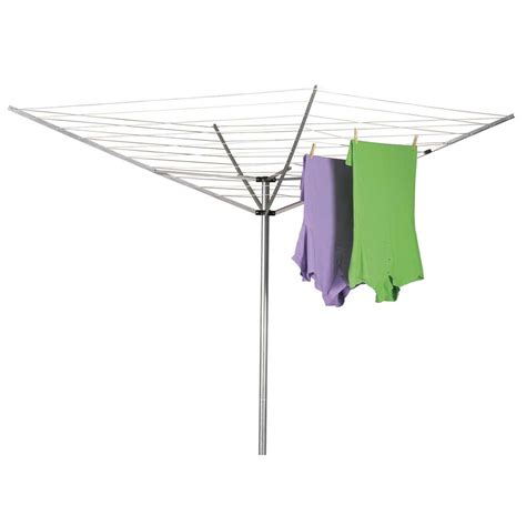 Laundry Drying Rack Outdoor by Household Essentials Umbrella Aluminum 165ft Clothesline
