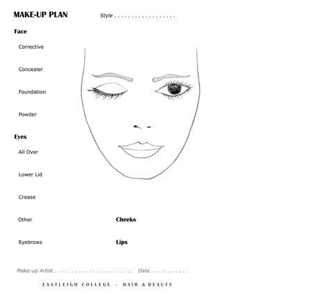 Eyeshadow Face2face Eye Shadow Face2face T2909 best photos of eye makeup template blank makeup