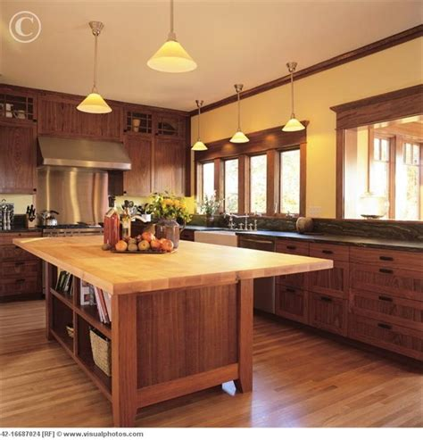 Arts And Crafts Kitchen Island Plans Craftsman Kitchen Butcher Block Island Craftsman
