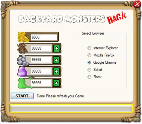 backyard monsters cheats hack hack tool