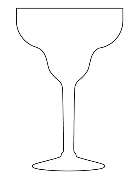 margarita outline margarita glass pattern use the printable outline for