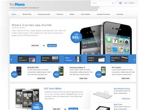 joomla shop template free youmania joomla template joomla web shop e commerce template