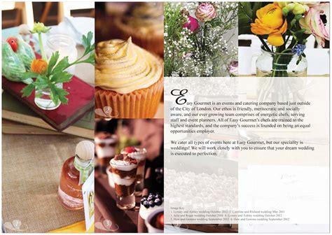 Wedding Brochure Uk by Bespoke Wedding Brochure For Easy Gourmet