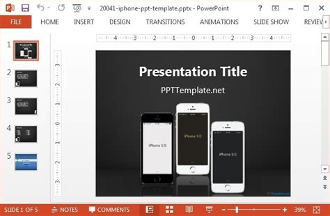 Best Free Technology Powerpoint Templates Iphone Presentation Template