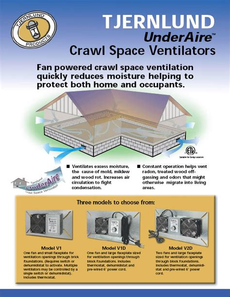 crawl space vent fan underaire crawl space ventilation fans dryer boosting