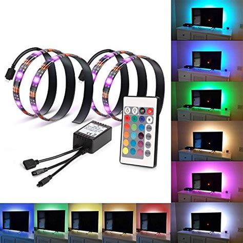 rgb tv backlight kit usb led light neon accent bias
