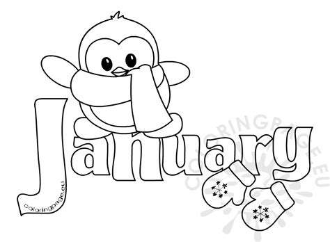 coloring pages for the month of january winter month of january clipart kid coloring page