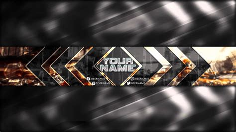 gaming youtube banner template tristan nelson sellfy com