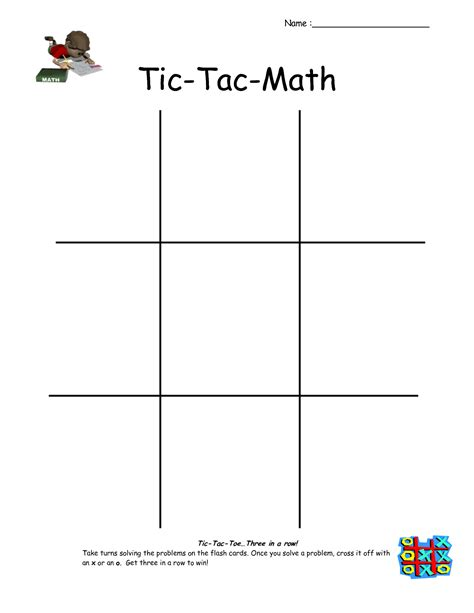 math tic tac toe template ideas about tic tac toe math worksheets easy worksheet