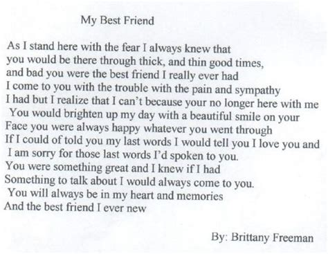 Apology Letter To A Special Friend 1000 Images About Best Friend Poems On Friendship Friendship Pictures And Like You