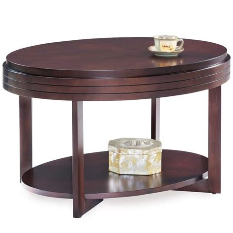 Leick Favorite Finds Oval Coffee Table In Chocolate Cherry Chocolate Coffee Table