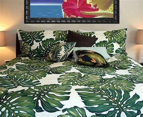 tropical leaf bedding set home   bed duvet