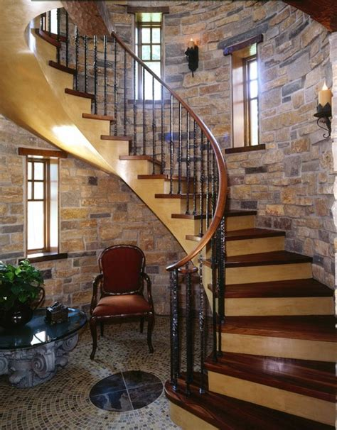 traditional staircases two toned wood staircase help please