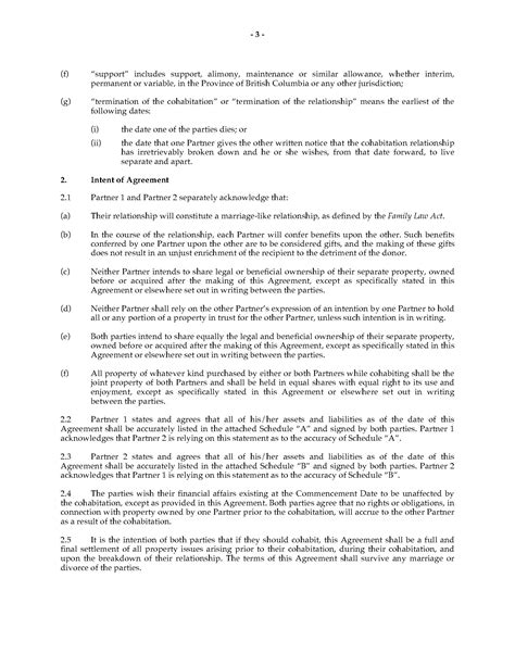 cohabitation agreement bc template columbia cohabitation agreement forms and