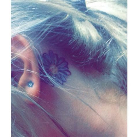 daisy tattoo behind ear 1000 images about tattoos on pinterest side tattoos