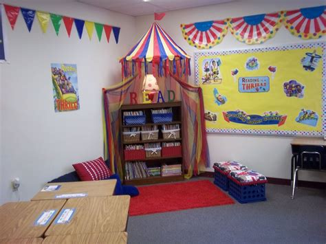 themes for reading corners carnival themed reading corner classroom decor carnival