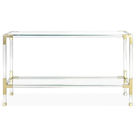 clear acrylic sofa table lucite clear table waterfall acrylic console