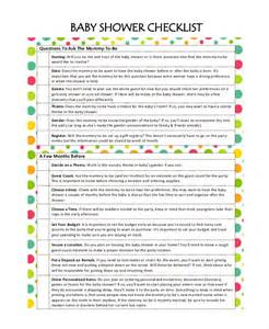 Baby Shower Planning Template by Baby Shower Planning 5 Free Pdf Documents