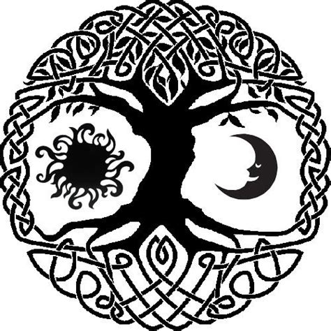 celtic moon tattoo designs celtic tree of with sun and moon idea since i