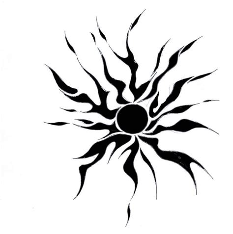 tattoo sun tribal sun images designs