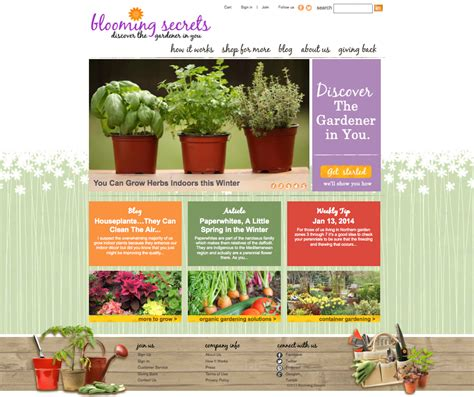 blooming secrets new gardening website provides