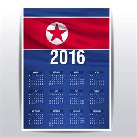Korea Calendario 2018 2016 Calend 225 Da Coreia Do Norte Baixar Vetores Gr 225 Tis