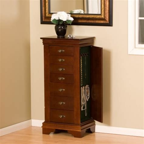 contemporary jewelry armoire louis philippe cherry jewelry armoire contemporary