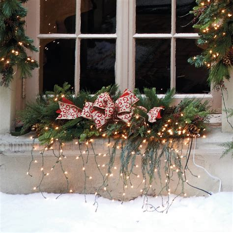 estate pre lit window christmas swag christmas decor traditional holiday lighting by frontgate