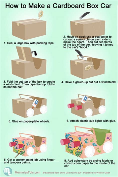 How Do You Make A Car Out Of Paper - how to make a cardboard box car pictures photos and