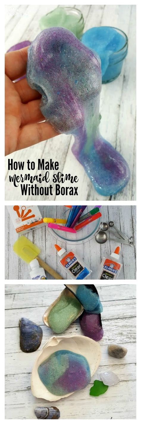 tutorial slime act how to make mermaid slime without borax juggling act mama