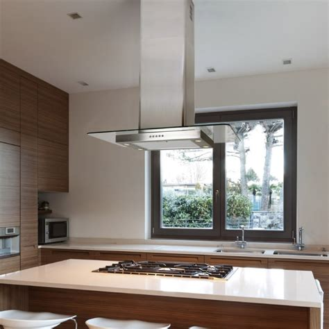 island hoods kitchen 70cm island flat glass stainless steel