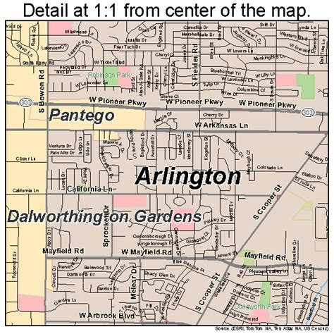 arlington texas map arlington texas map 4804000