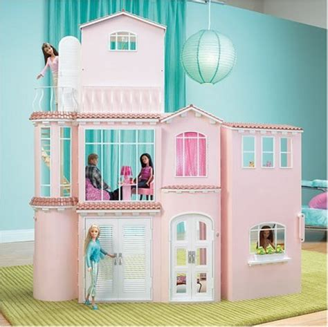 barbie dream house dolls house playset mattel barbie 3 story dream house playset import it all
