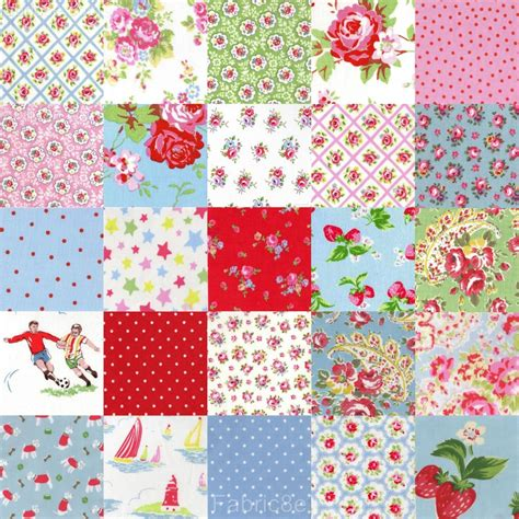 How To Patchwork - cath kidston cotton fabric 20cm patchwork squares choice