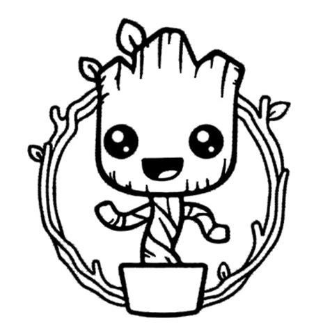 coloring page baby groot baby groot vinyl decal wall art i am groot