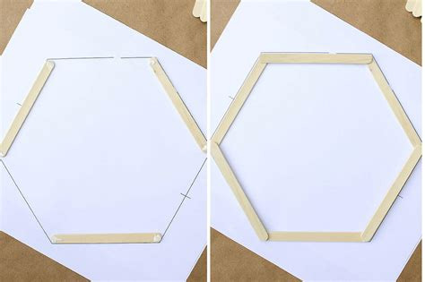 diy popsicle stick hexagon shelf craftbnb