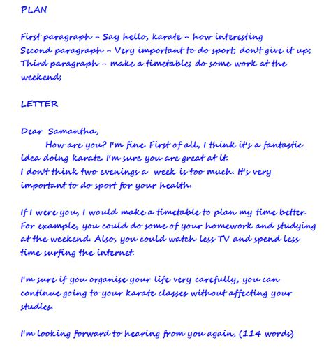 exle of formal letter with questions post 26 a new writing task writing a letter get ready