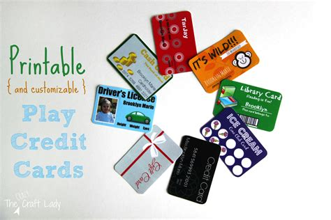 Master Card Gift Card - printable and customizable play credit cards the crazy craft lady