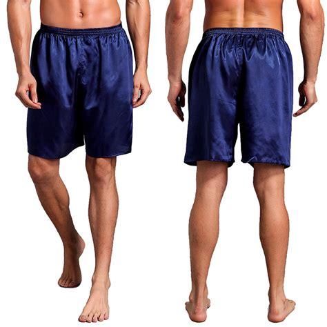 Sanbonnet Shortpants Pajamas black charmeuse satin unisex lounge sleep pajama s s shorts pant
