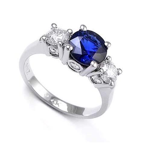Blue Safir Sapphire 4 65ct anzor jewelry 14k white gold 1 65ct sapphire 76ct