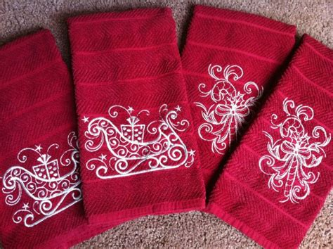 embroidery gifts embroidery it machine embroidered handtowels
