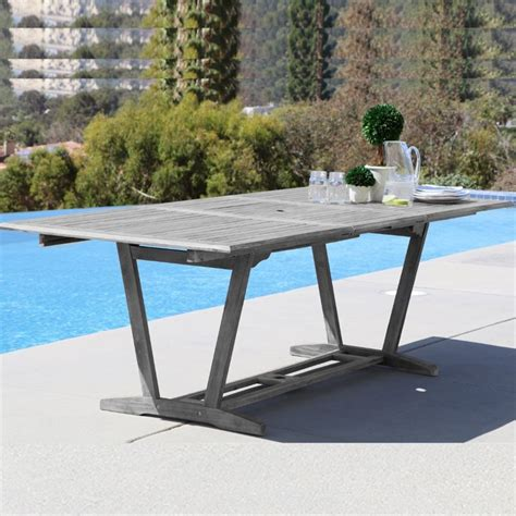 Extendable Patio Table Extendable Patio Dining Table In V1294