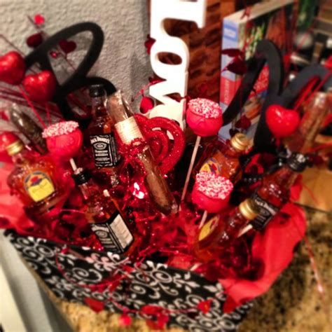 valentines day gift baskets him valentines day gift for him quot bouquet quot mini liquor