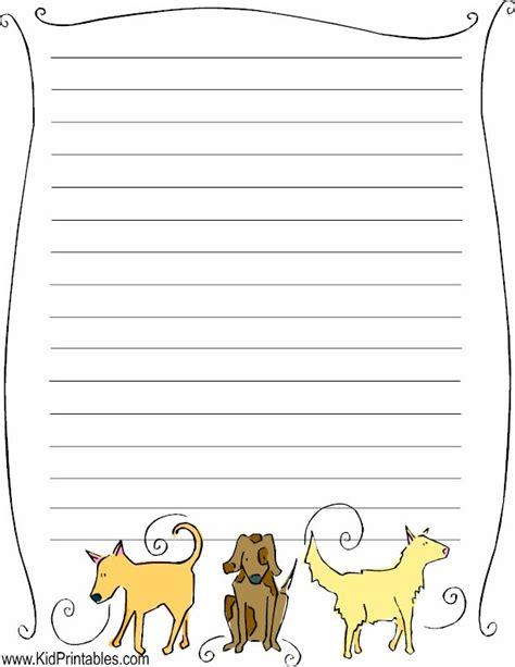 printable dog stationery kid printables printable dog stationery