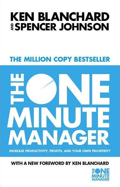 libro the one minute manager the one minute manager by kenneth h blanchard spencer johnson paperback barnes noble 174