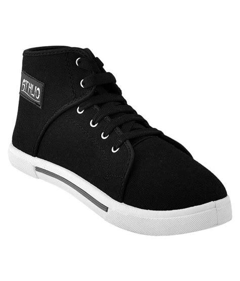 Casual Sneakers In Black by Athlio Sneakers Black Casual Shoes Buy Athlio Sneakers