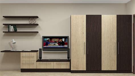 modular wardrobe design  indian bedroom   door   tv unit study unit wall