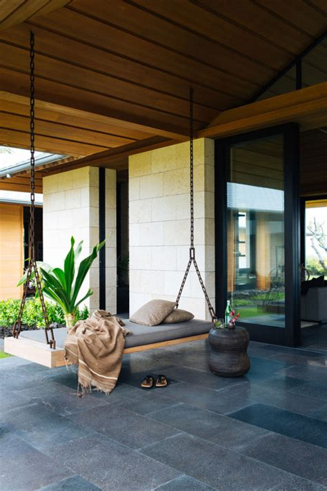 modern outdoor swing 10 modern outdoor spaces with relaxing swings design milk