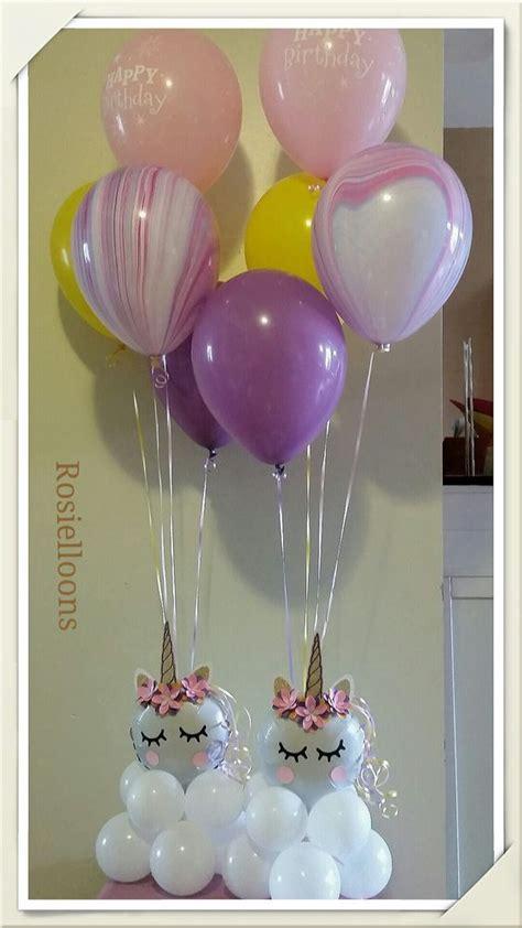 centro de mesa con globos para unicornio 3 decoracion de fiestas cumplea 241 os bodas